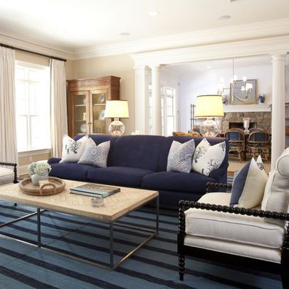 navy sofa design ideas, pictures, remodel, and decor - page 2