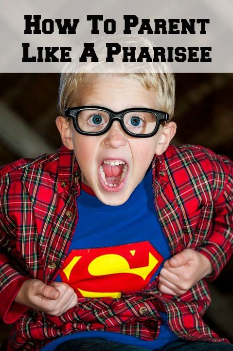 When, Because I said so sums up your parenting style.   How to Parent Like a Pharisee