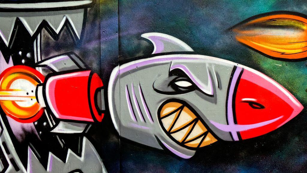 how to draw a graffiti shark