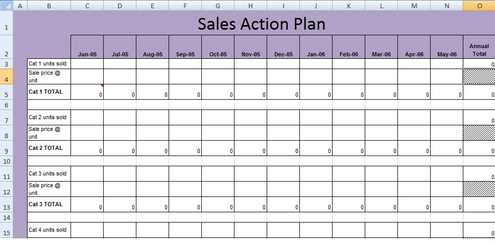 Get Sales Action Plan Template XLS Excel Project