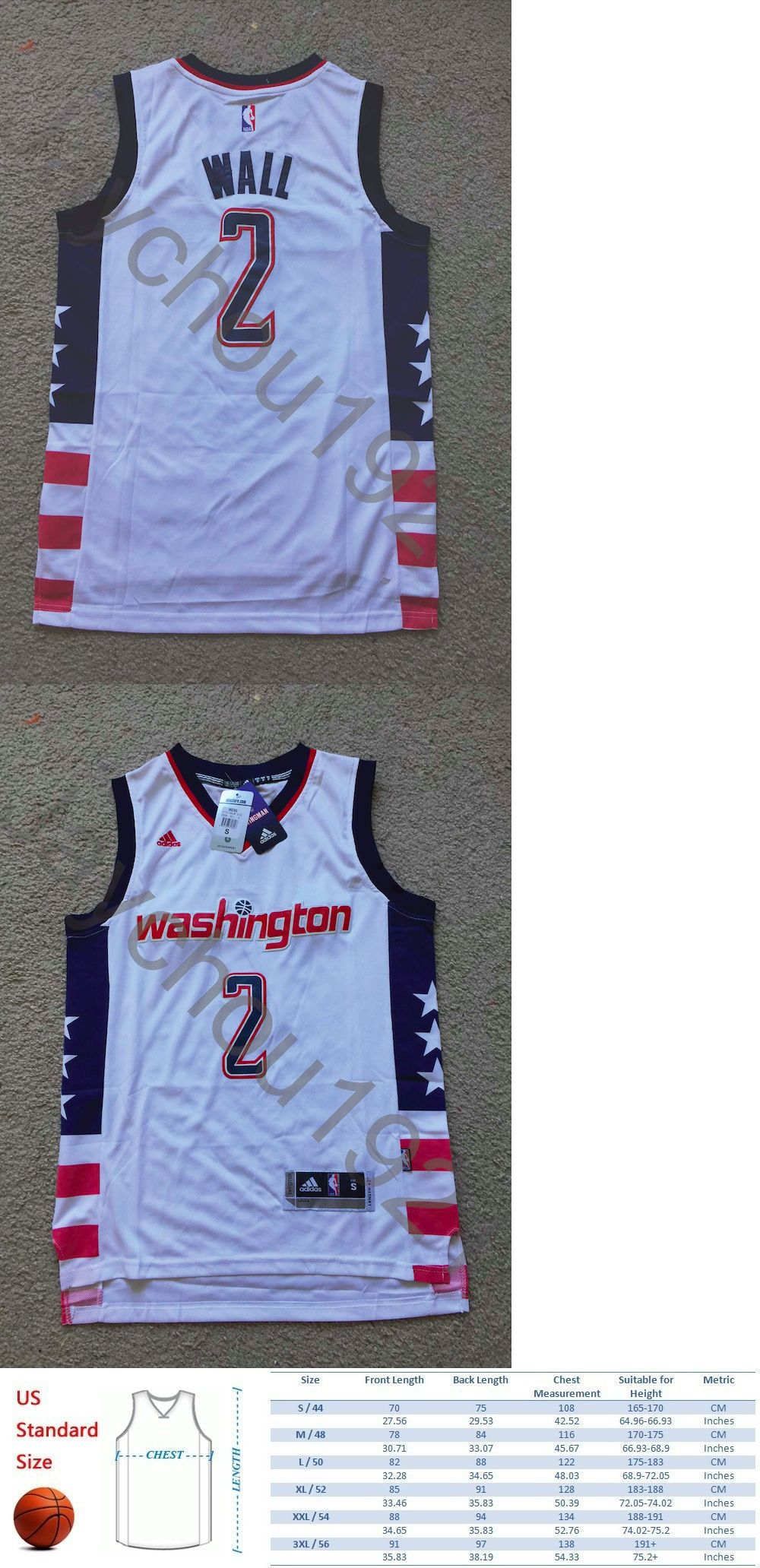 Basketball-NBA 24442: Rare John Wall Washington Wizards White Swingman Sewn  On Jersey Size