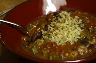 My life in food: Smokey Red Peppers and Beans Gumbo (vegan)