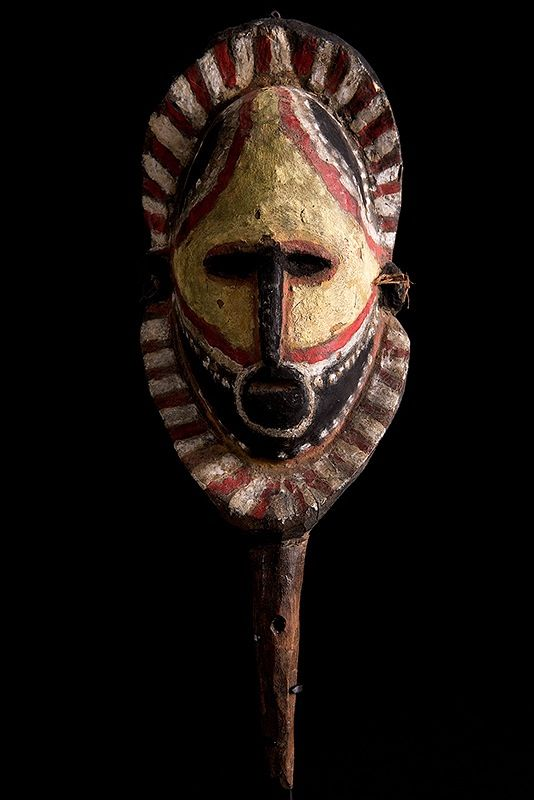 The Abelam people of northeast New Guinea cultivate two distinct categories of yams—a small variety used as ordinary food and long yams, massive tubers that can be as much as twelve feet long. A man's social status is determined largely by his success in growing long yams. Abelam Yam Mask