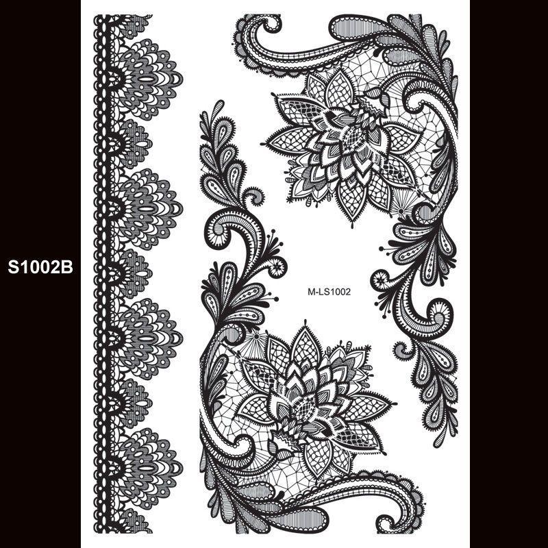 Black Henna Tattoo Uk: Black Henna Temporary Tattoo Arm Lotus Flower