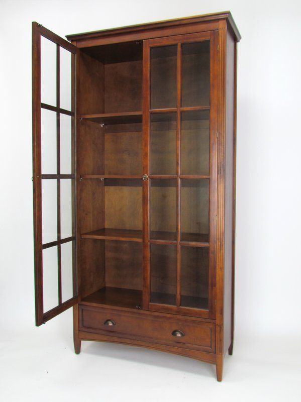 Jemaine Traditional Standard Bookcase Bookcase With Glass Doors Barrister Bookcase Quality Living Room Furniture