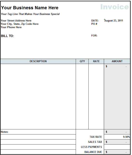 free download consultant invoice templates ms excel