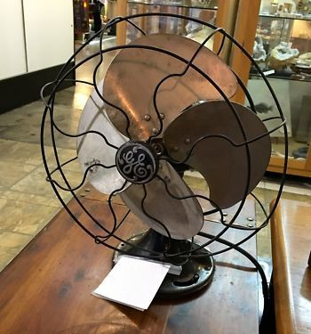 Great Condition GE Oscillating 50's Fan   $225  Mid Century Dallas Booth 766  Lula B's 2639 Main St. | Dallas, TX 75226  Like Mid Century Dallas on Facebook: http://www.facebook.com/pages/Mi