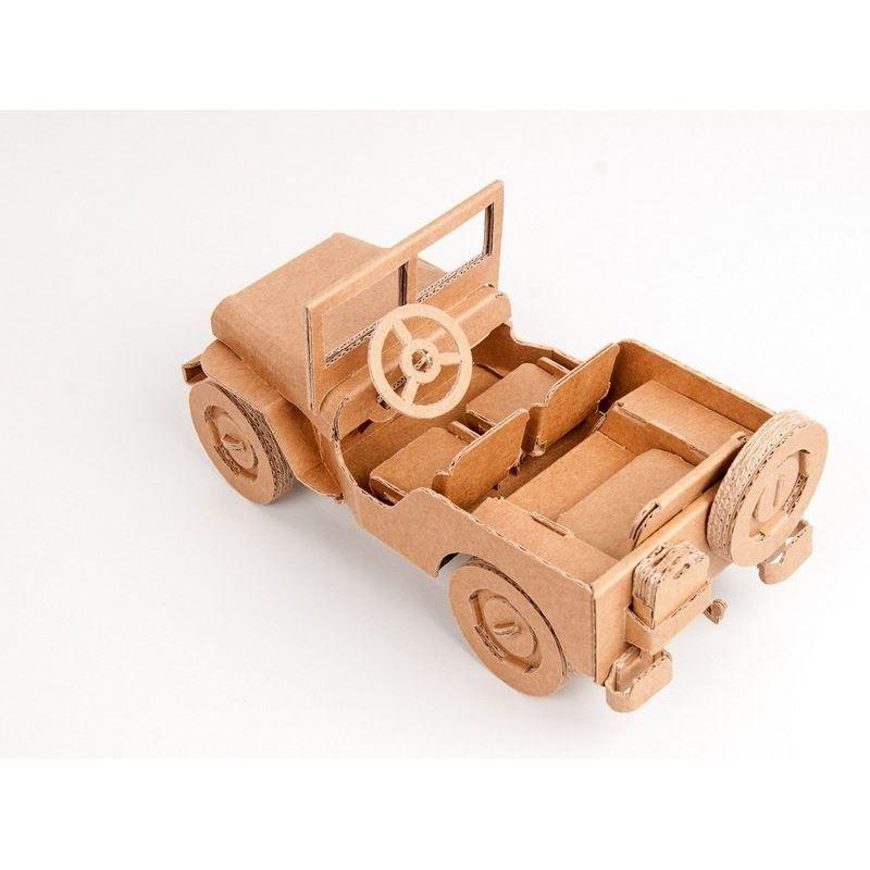 Voiture Jeep Willy carton à construire Maquette Leolandia Cake - maquette de maison a construire