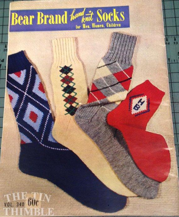 Bear Brand Hand Knit Socks For Men Women And Children Vol 340