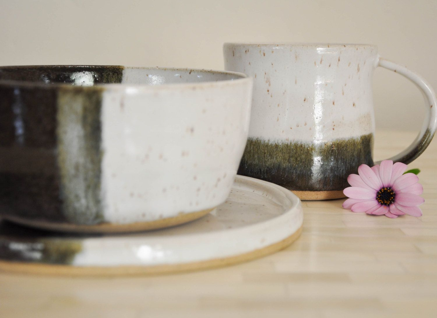 Pottery Dinnerware, Place Settings, Pottery, Pottery Dinner Plates, Wheel Thrown Pottery, Pottery Dinnerware, Handmade, Made to Order by ShawnaPiercePottery on Etsy
