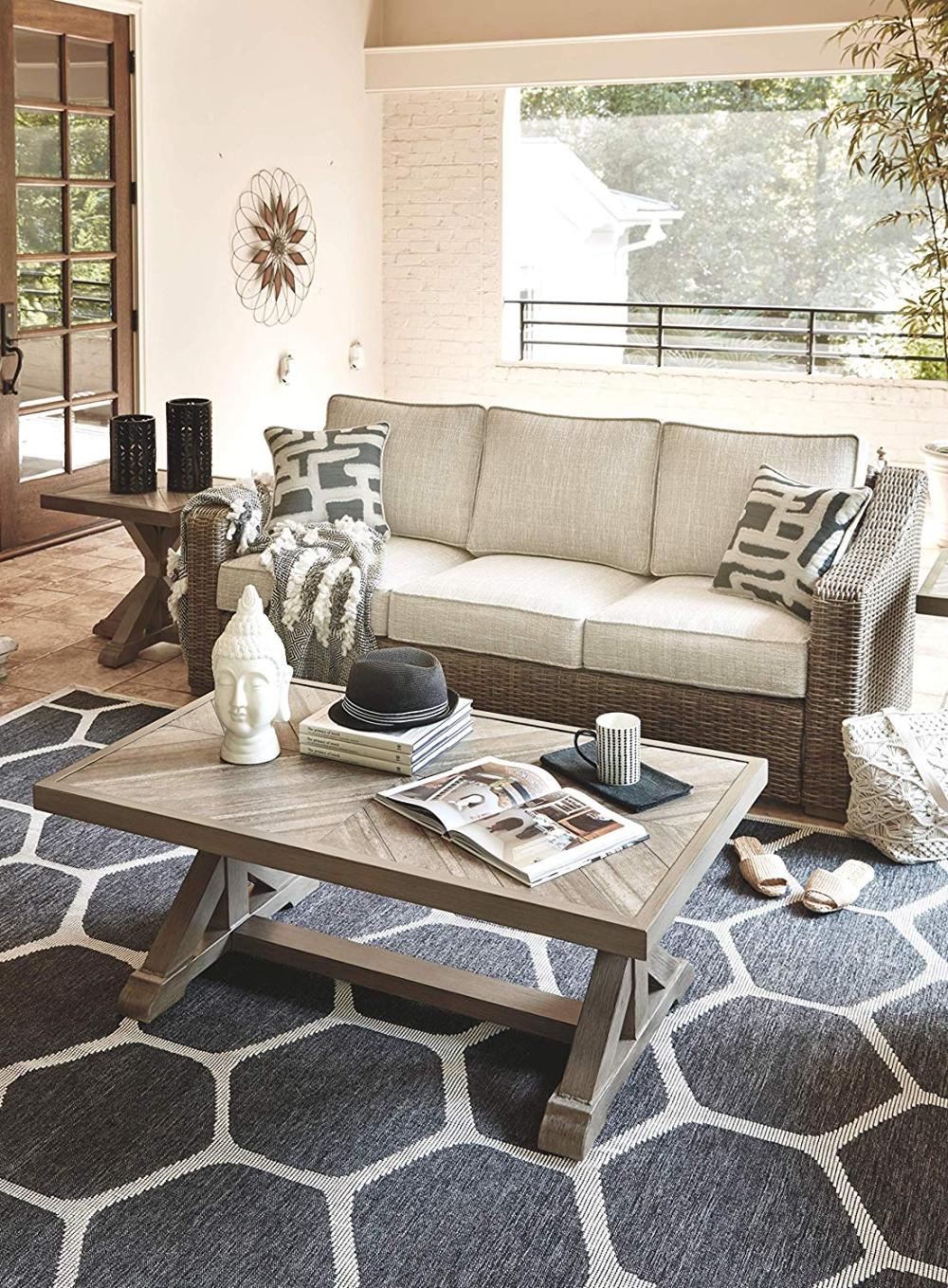 Amazon.com: Signature Design by Ashley - Beachcroft ... on Beachcroft Beige Outdoor Living Room Set id=58838