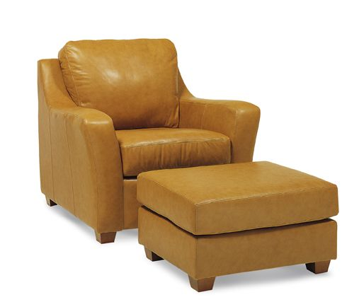 Stupendous Butterscotch Colored Leather Chair With Matching Ottoman Caraccident5 Cool Chair Designs And Ideas Caraccident5Info