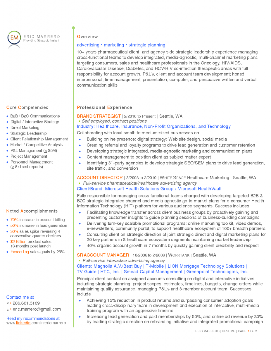 10 Examples Of Core Competencies For Resume Sample