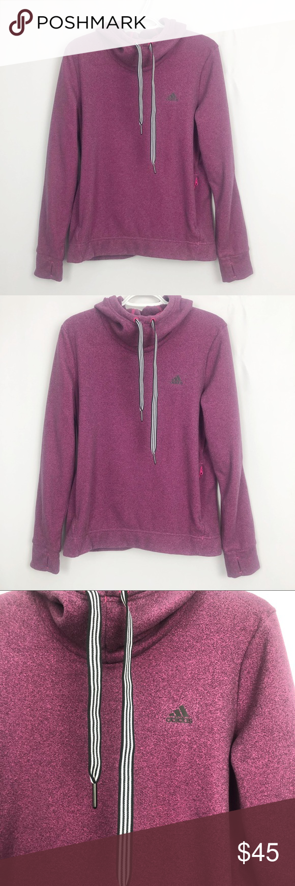 Adidas Fleece Cowl Neck Sweatshirt In Excellent Used Condition Bought This Brand New And Only Worn Twice Super Cowl Neck Sweatshirt Clothes Design Cowl Neck [ 1740 x 580 Pixel ]