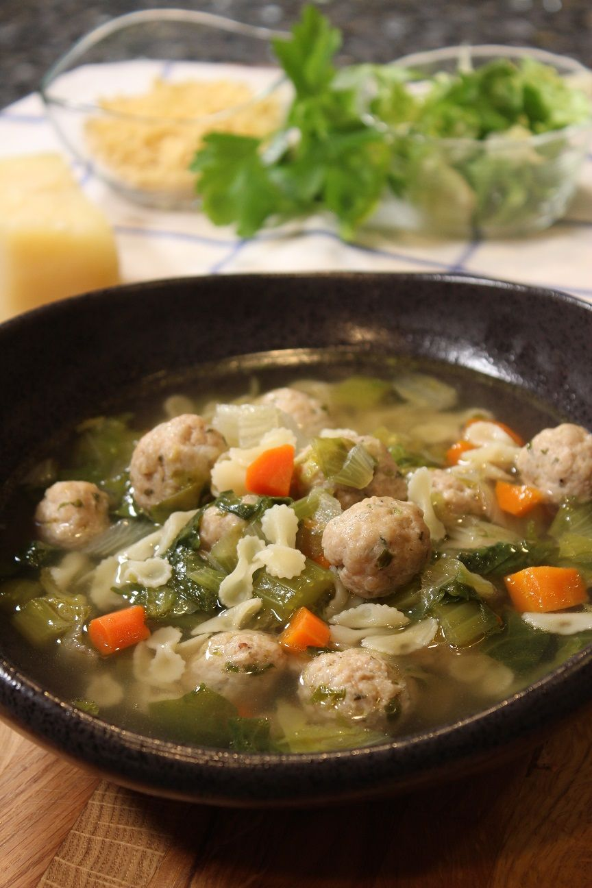 Hello everybody! Today I want to share with you my take on the traditional Italian wedding soup recipe. There are several variations of the Italian Wedding Soup recipe, but I will share with you how I like to make it. The soup isn't an actual wedding soup, as in, a traditional soup served at a wedding. It is more about the marriage of the meat and vegetables coming together and bringing out a delicious flavorful soup. This soup is also perfect for warming you up during the cold winter months. Wa #italianweddingsoup