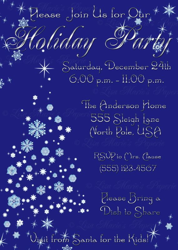 Elegant christmas party invitation handmade digital file christmas elegant christmas party invitation handmade digital file christmas tree invite christmas invite digital file diy printable solutioingenieria Image collections