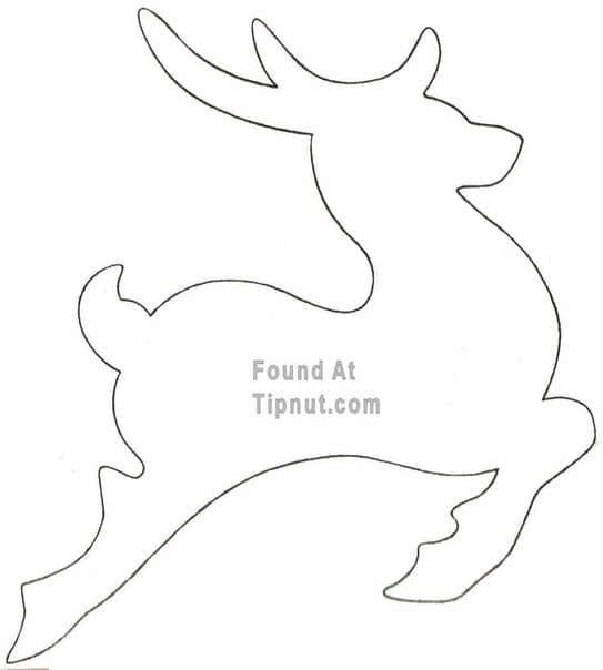 Renos navide os de fieltro con moldes03 navidad - Renos para dibujar ...