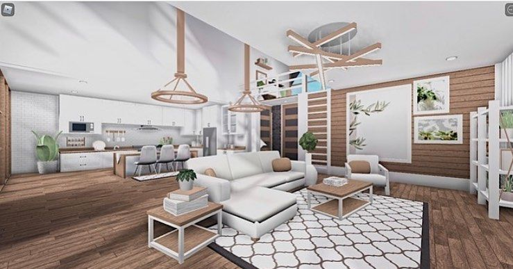 Bloxburg Builds On Instagram Beautiful House Credits Owner Of The Build The O House Decorating Ideas Apartments Bloxburg House Small House Design Plans Living room bloxburg house inside