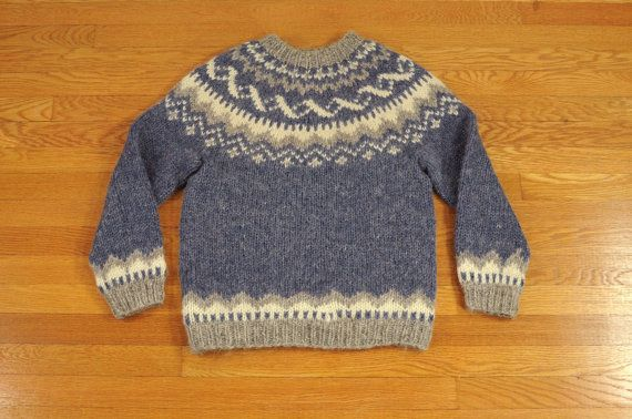 vintage Icelandic fair isle sweater folk by CarnivalOfTheManiac