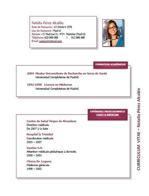 Plantillas y modelos de curriculum en francés Trabajar en Francia - modelos de resume