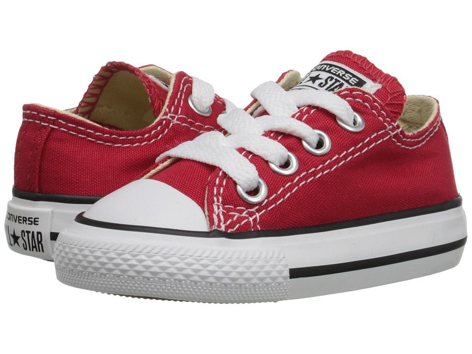 9170bafe3c6e7d Converse Kids Chuck Taylor(r) All Star(r) Core Ox (Infant Toddler) Kids  Shoes Red