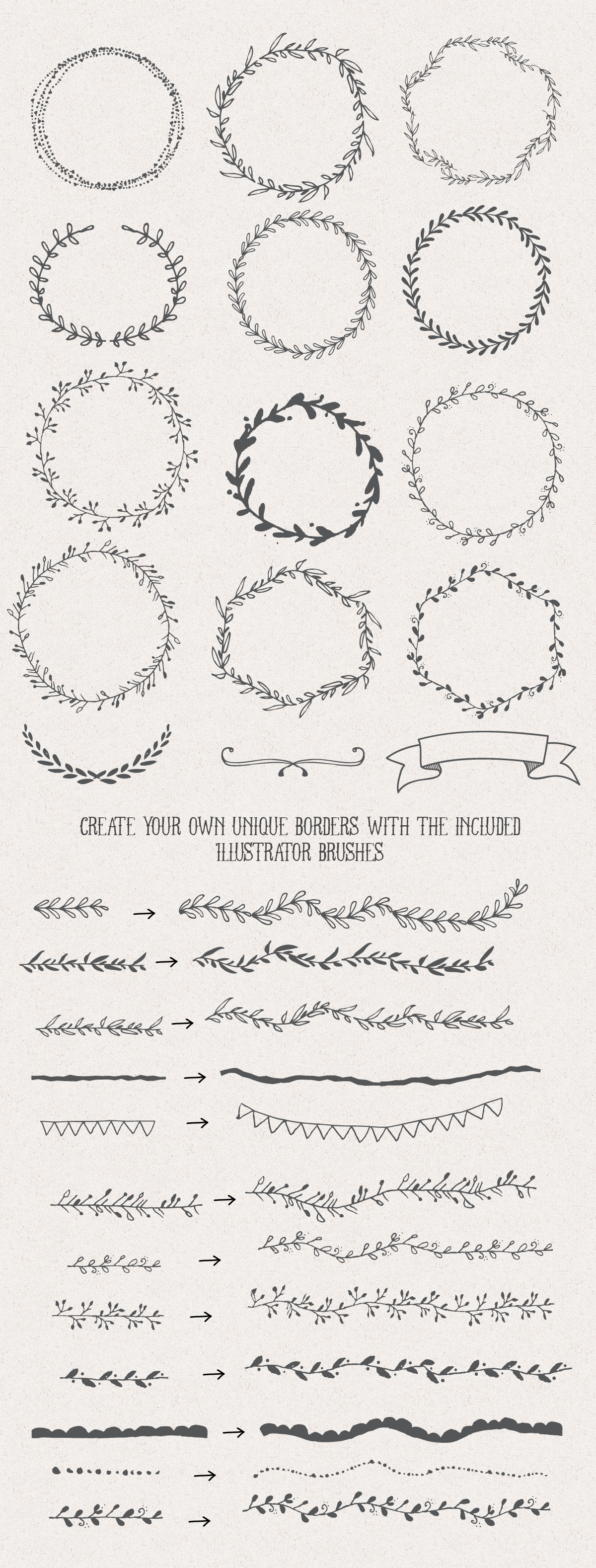 The handsketched designers kit designers creative and doodles