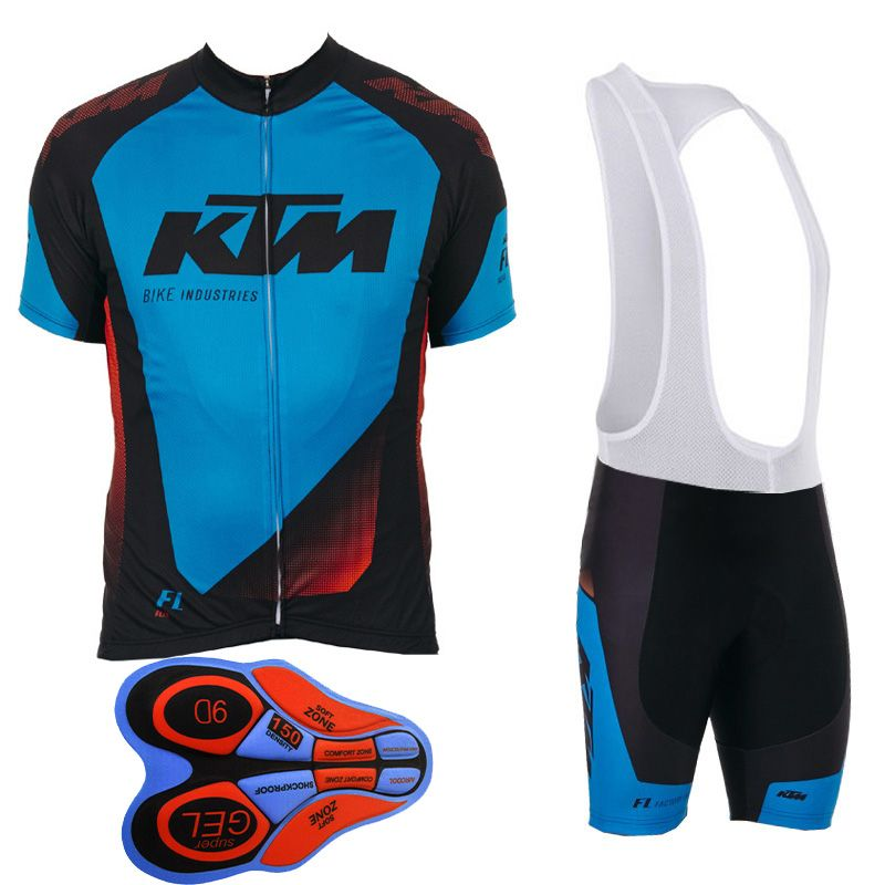 254791b3d KTM Team Maillot Cycling Jersey Set Cycling Clothing Short Sleeve Bib Shorts  Pad Shorts Road Bike Ciclismo Sportwear     Locate the offer on AliExpress  ...