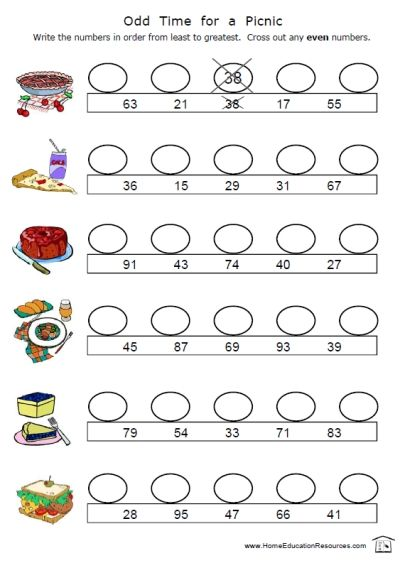 Odd and Even Worksheets -- 14 pages of pure math fun! Each page ...