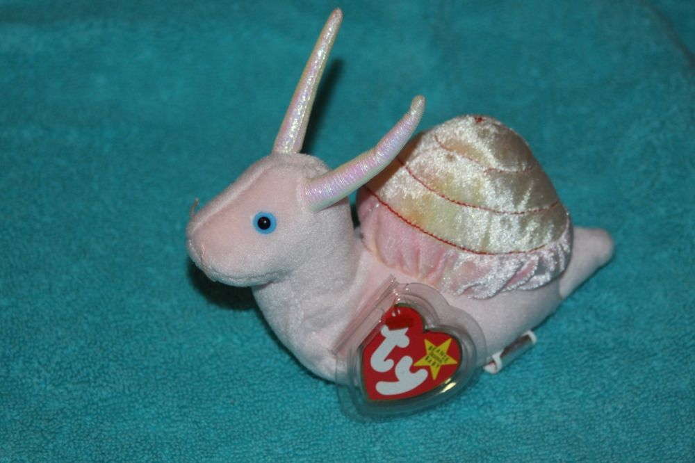 6e80489078d SWIRLY the Pink Sea SNAIL - Ty Beanie Baby - MWMT Retired  TY  BeanieBaby