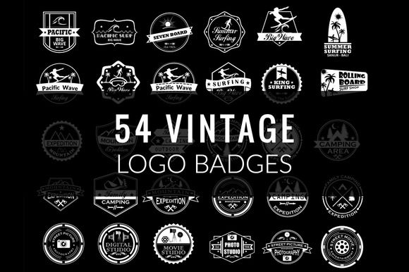54 Vintage Logo Badges by on3step on @creativework247