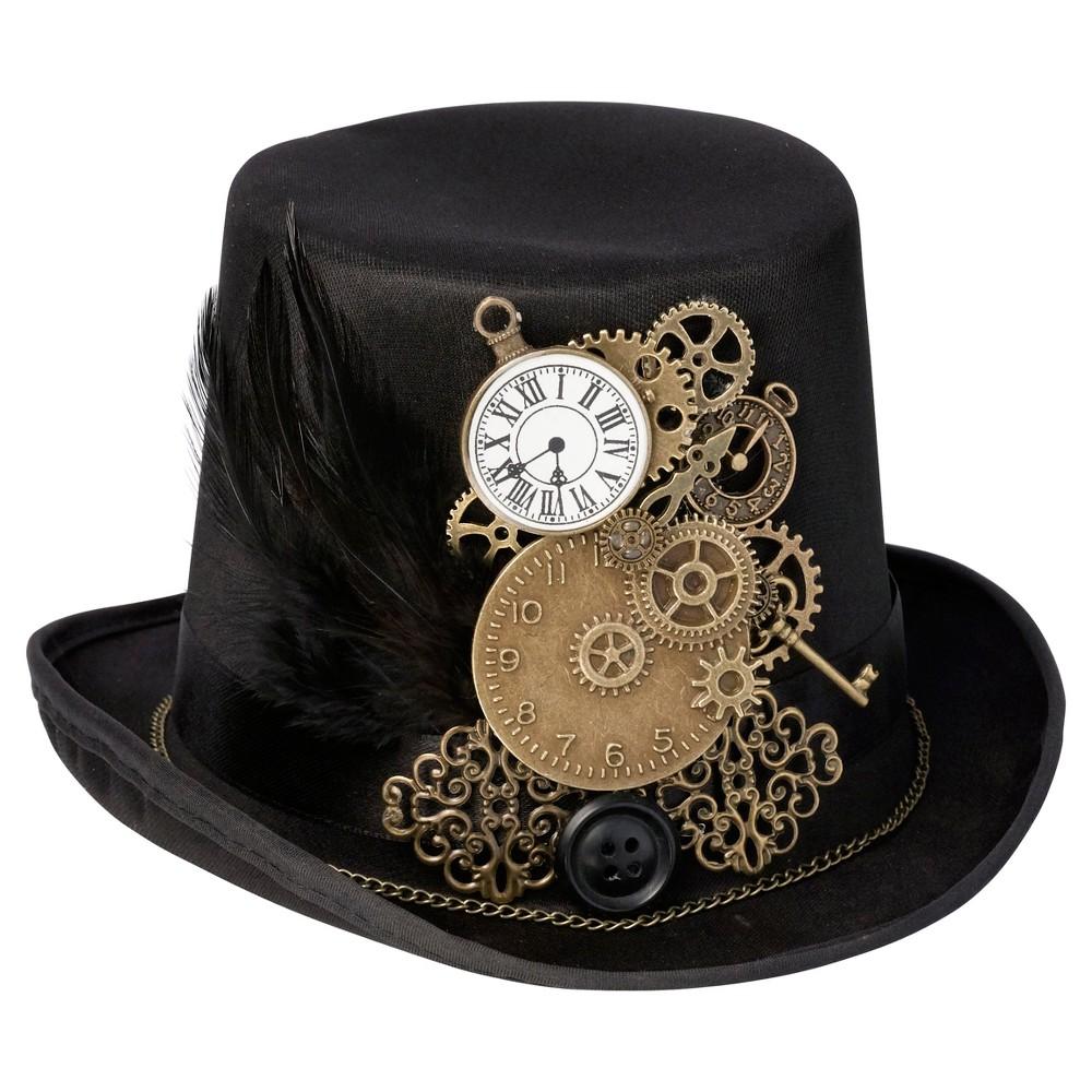 b277d2d4088f2 Steampunk Hats Black Steampunk Top Hat Ring Holder  37.25 AT  vintagedancer.com