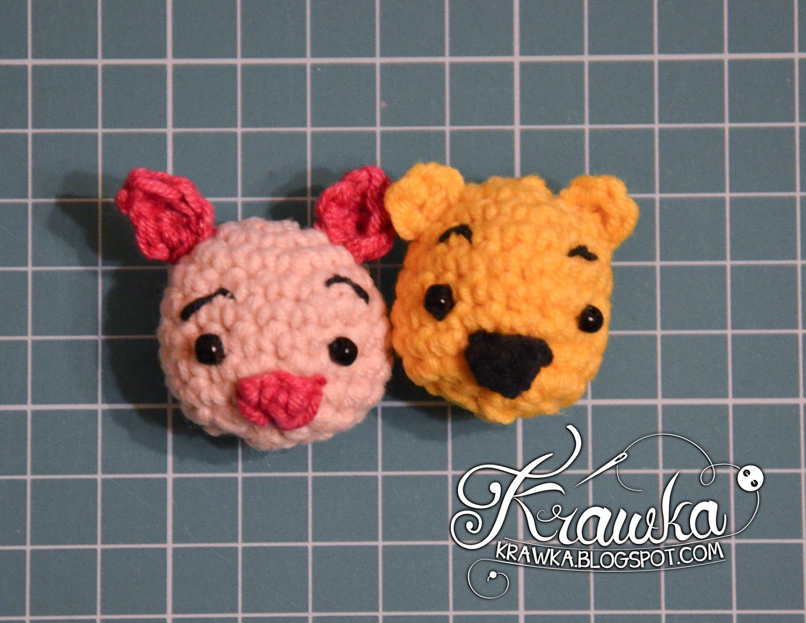 Piglet Amigurumi Free Pattern : Krawka: winnie the pooh and friends minis. crochet free pattern
