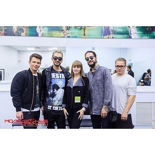 #TokioHotel with Malvina Tempt - Molod News Interview Backstage [Rostov-on-don, Russia - 01.11.2015]