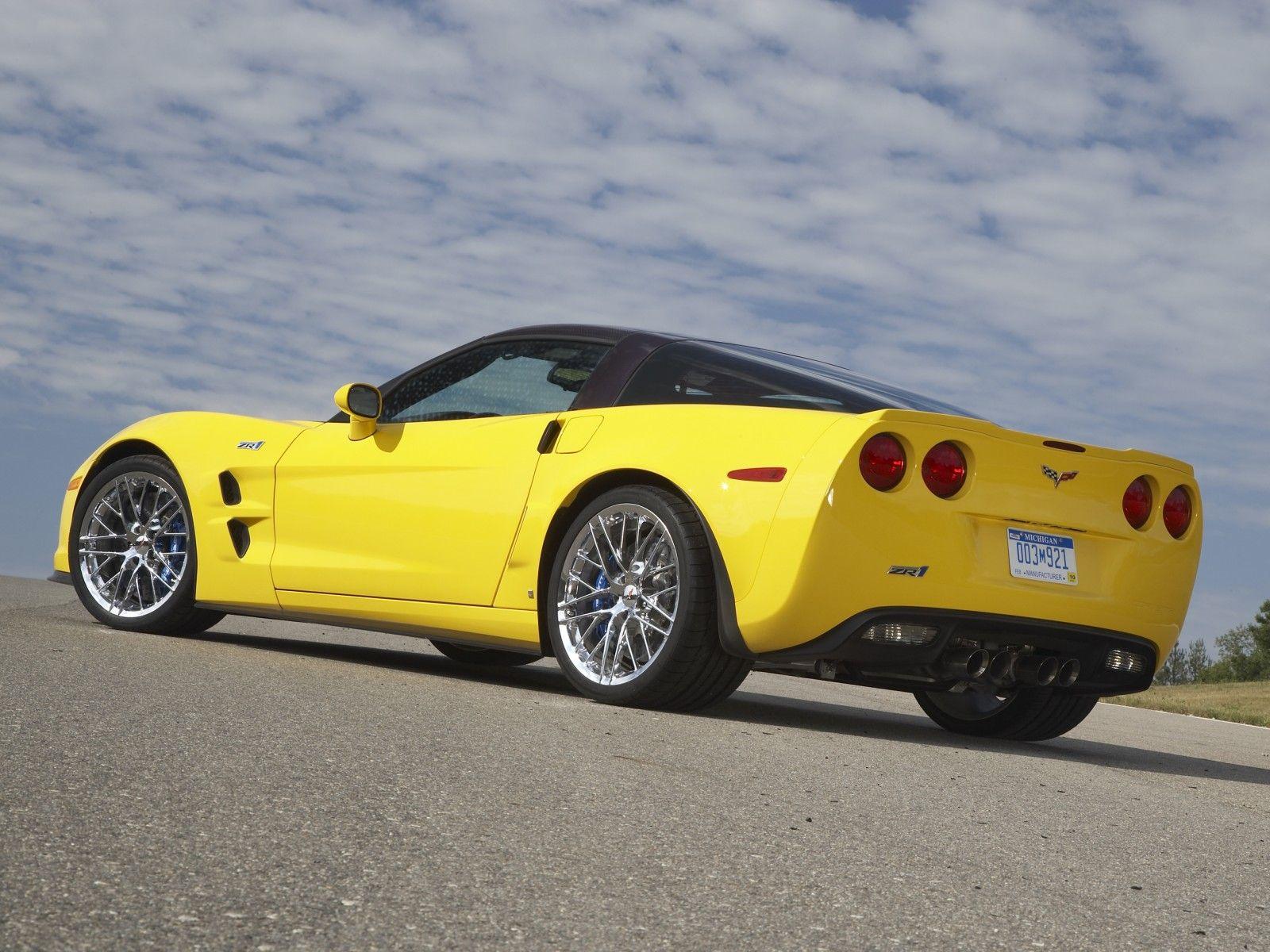 Corvette Zr1 2009 Yellow With Images Corvette Zr1 Chevrolet