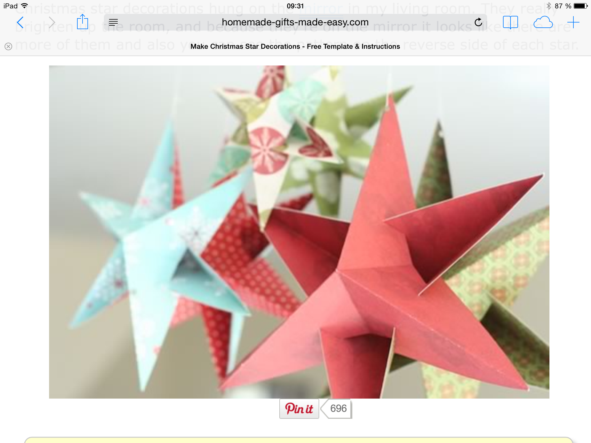 Christmas Star Decorations To Make, With Free Template Using Scrap