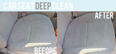 Beige car seats lookin' stained and gross? Deep clean them in a half an hour for FREE! Check out this awesome cleaning tip from Holly Helps! #cleaningcars