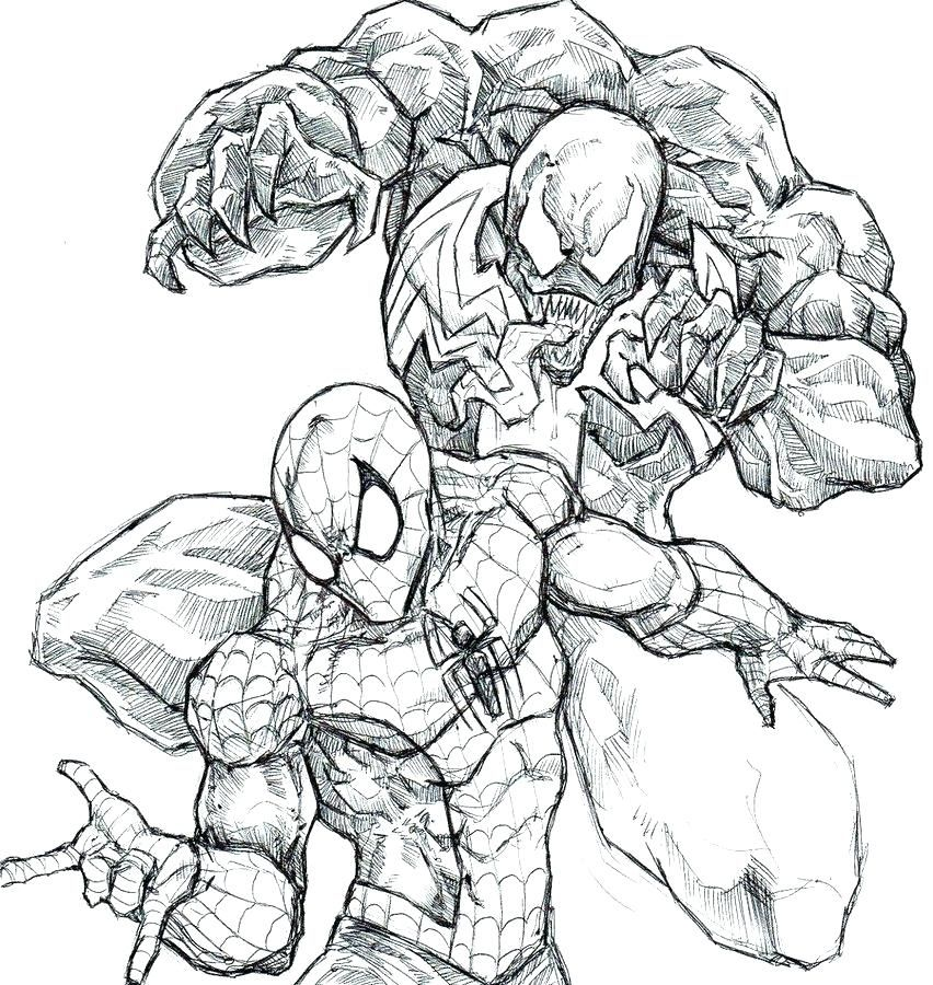 spiderman vs venom coloring pages venom coloring pages
