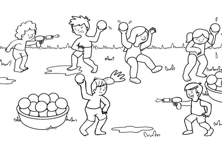 Resultado De Imagen De Juegos De Agua Para Ninos Colorear Juegos De Agua Para Ninos Dibujos Para Colorear Laminas Para Colorear