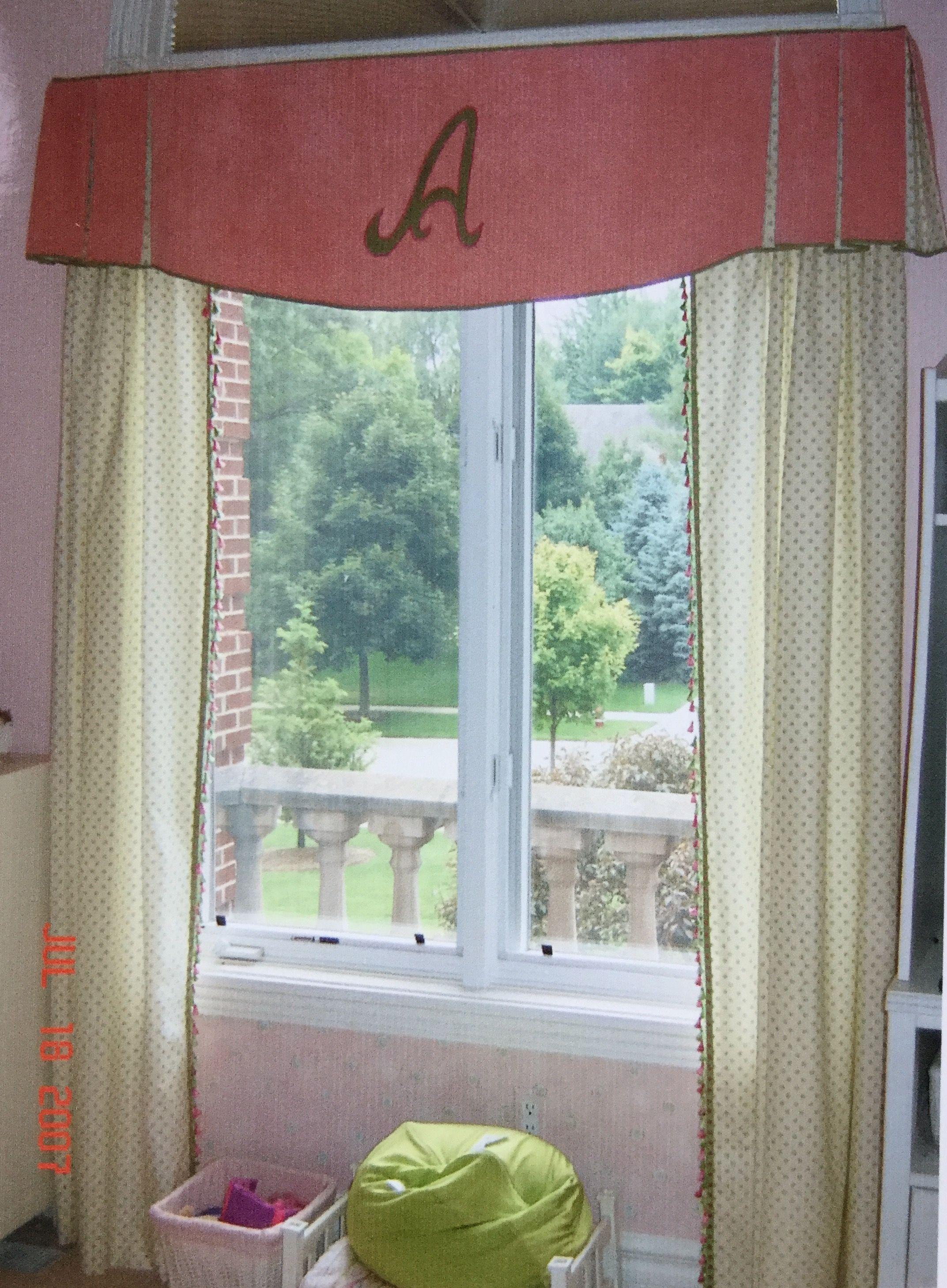 Custom Monogram On Little Girls Bedroom Window Valance Girls