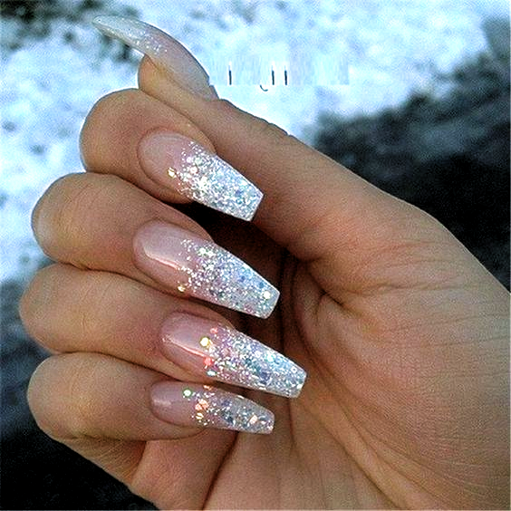 Attractive And Simple Winter Acrylic Coffin Nails To Try This Holiday Season; Winter Nails; Winter A