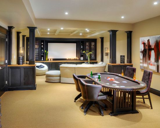 Contemporary Media Room Game Rooms Design Pictures Remodel Decor And Ideas Page 10 Media Room Design Home Game Room Basement