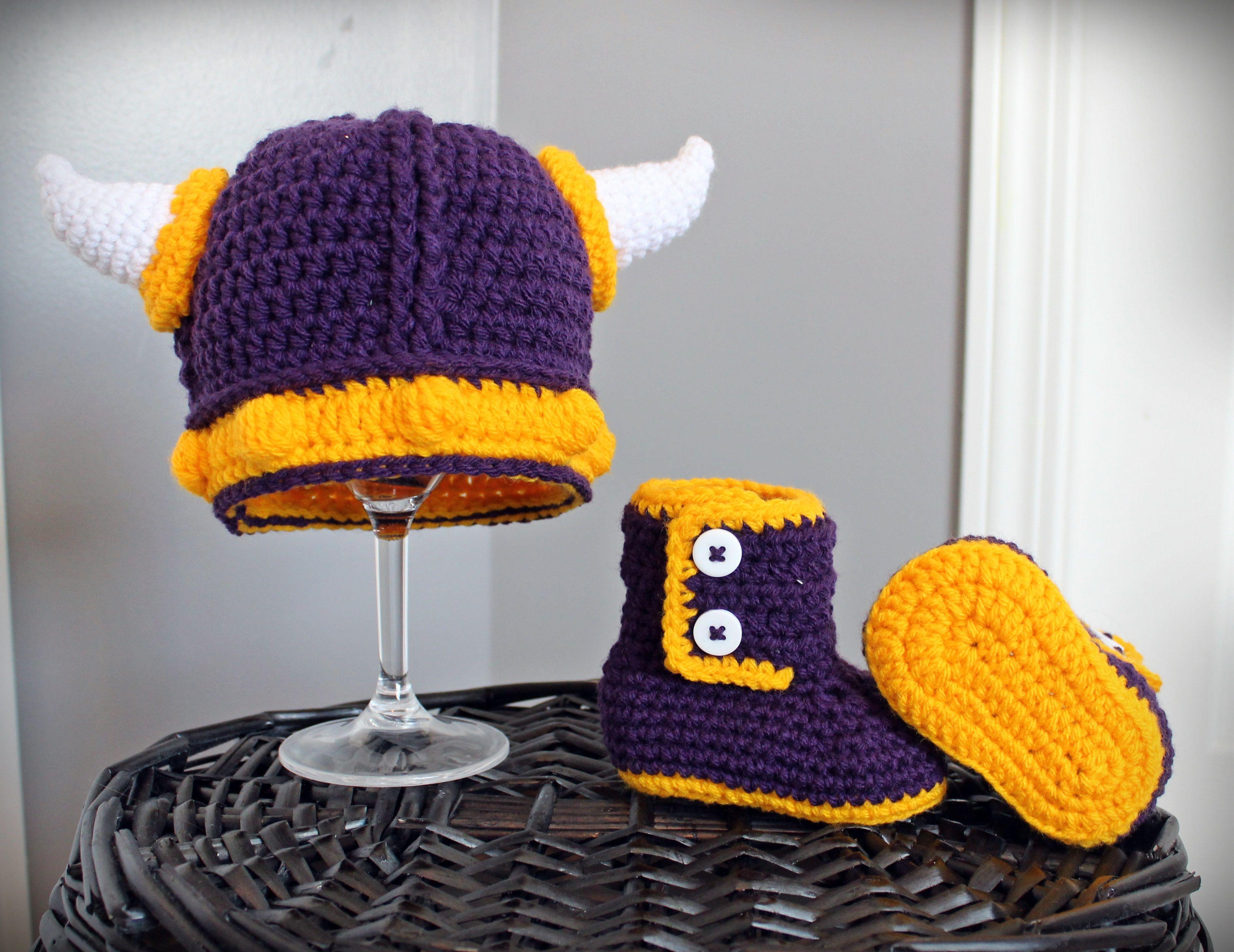 Vikings Crochet photo prop set - By Sweet Little Luxuries Viking hat ...