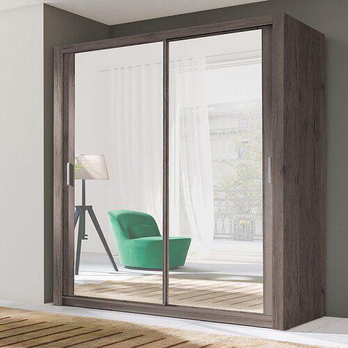 Ordu 2 Door Sliding Wardrobe Selsey Living Colour: San Remo, Size: H215 x W150 x D62cm, Interior Option: Standard