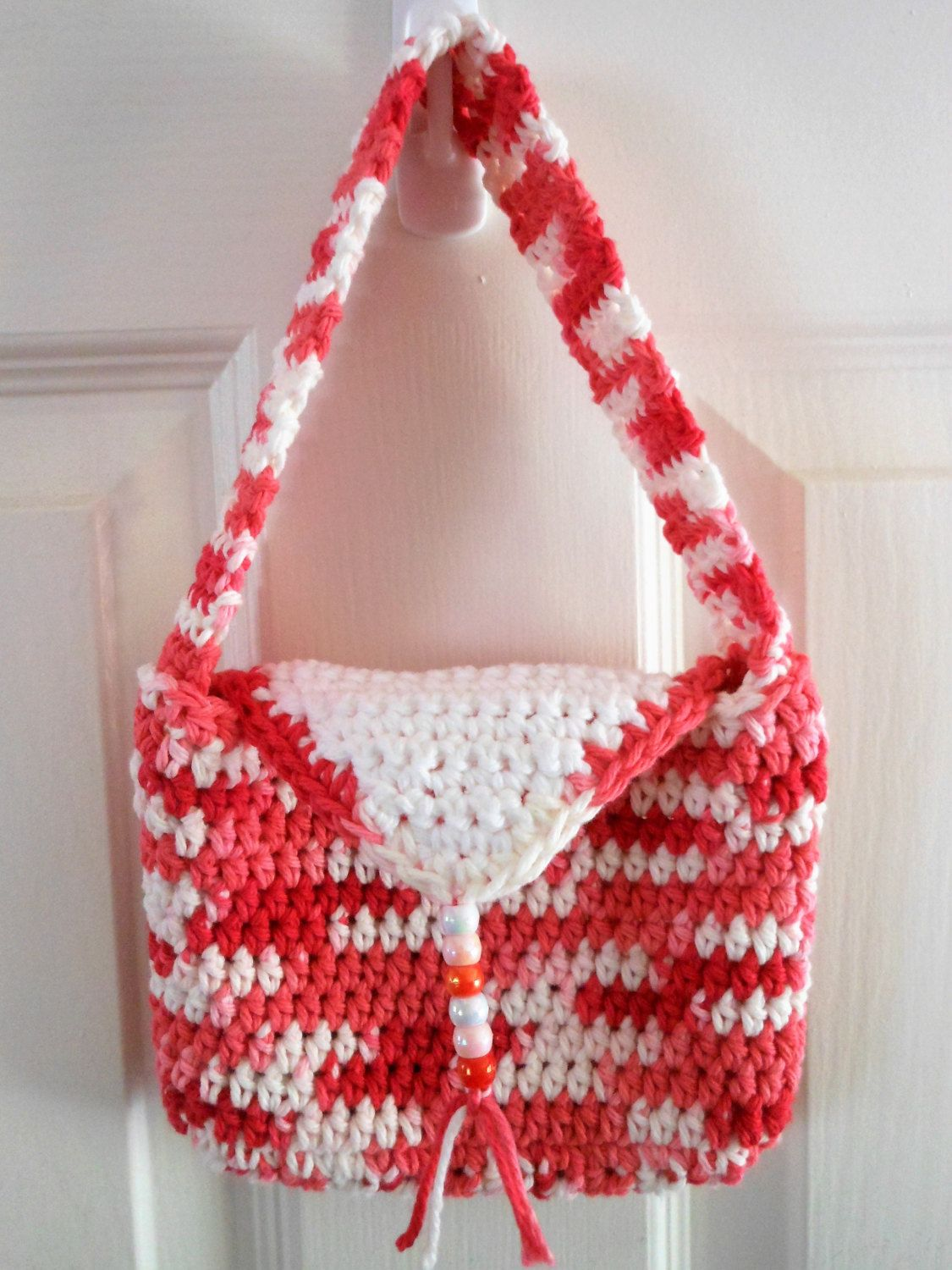 Crochet little girl purse over the shoulder bag easter gift for crochet little girl purse over the shoulder bag easter gift for girls velcro negle Image collections