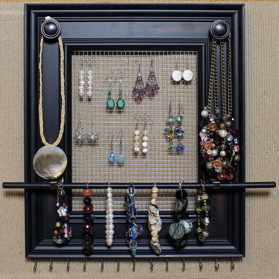 Best 25 frame jewelry organizer ideas on pinterest diy for Jewelry organizer ideas