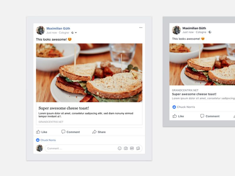 Facebook Post Template Free Sketch Resource For Download