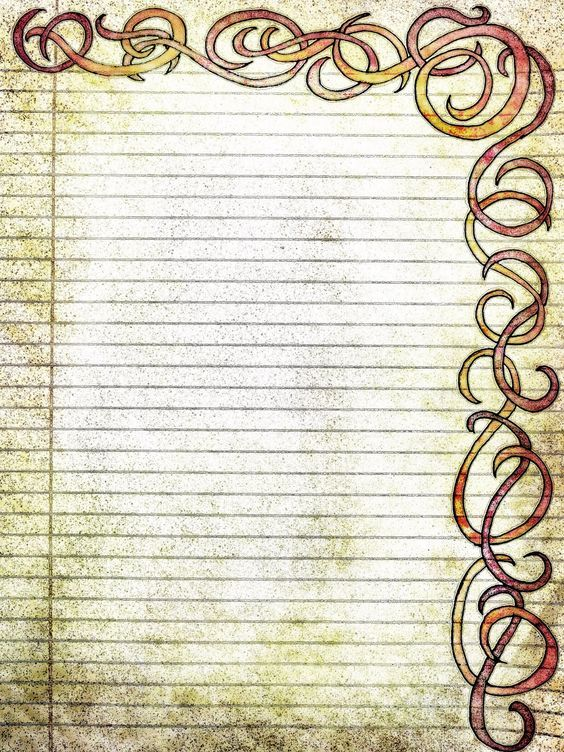 free printable lined paper vintage Printable Filigree Swirls - printable lined paper