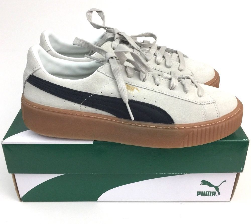 aec06560dbf Puma Suede Platform Core Sneakers 363559-01 Whisper White   Black US 9 Women  New  PUMA  Sneakers