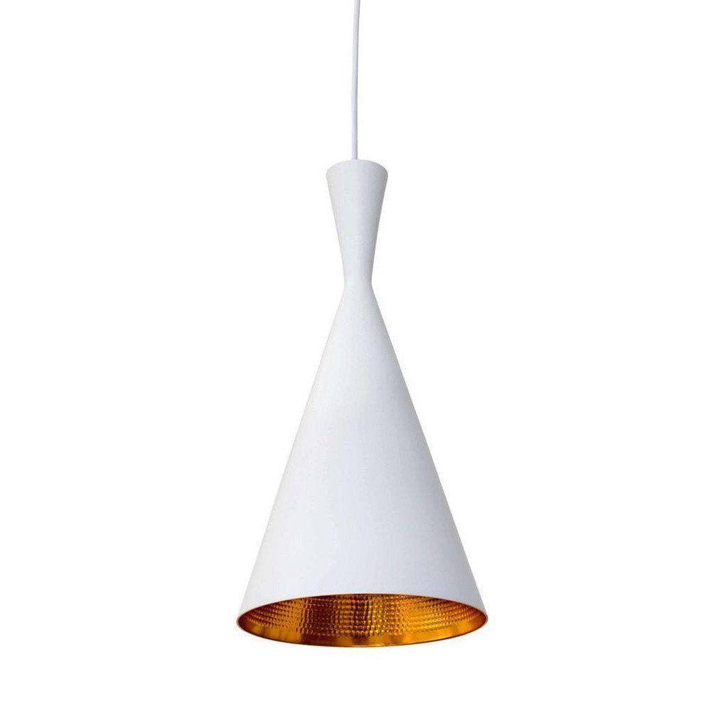 Beat shade tall pendant lamp white tom dixon beat pendant lamps
