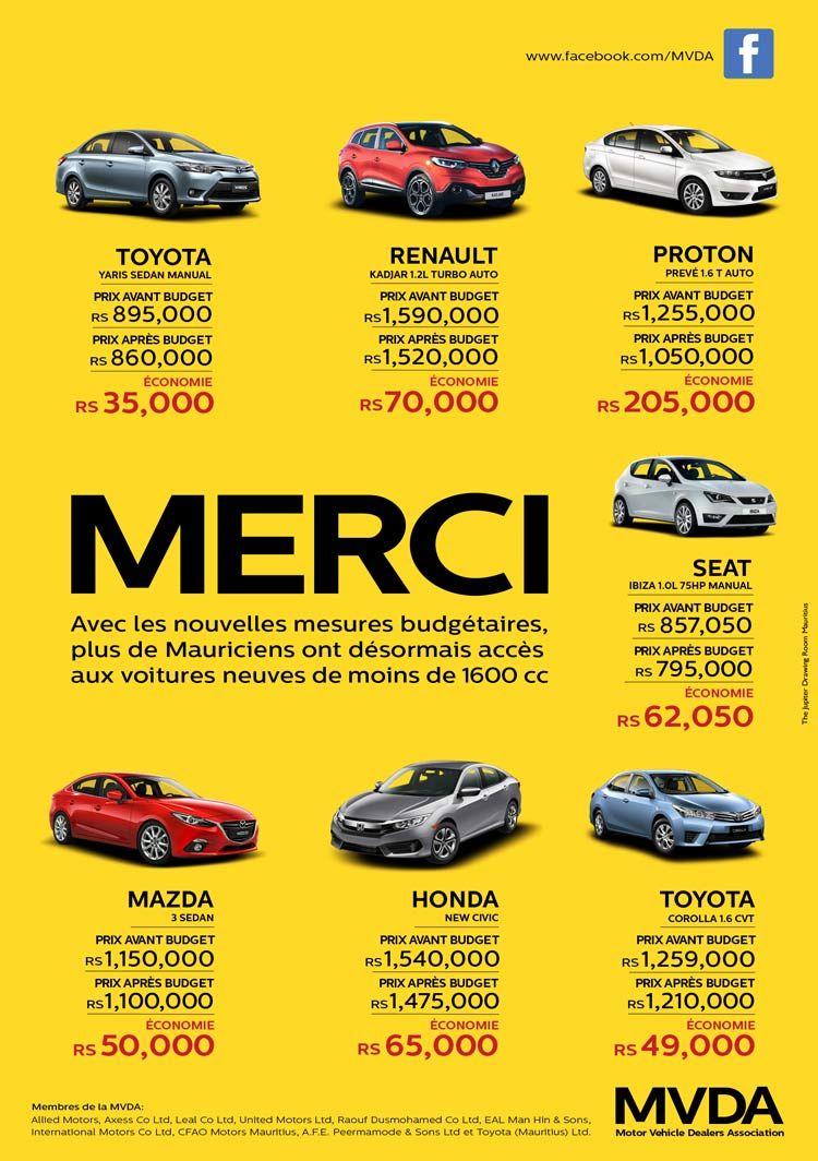 Mvda Les Prix Des Voitures Neuves Ont Baissé Renault Yaris Sedan